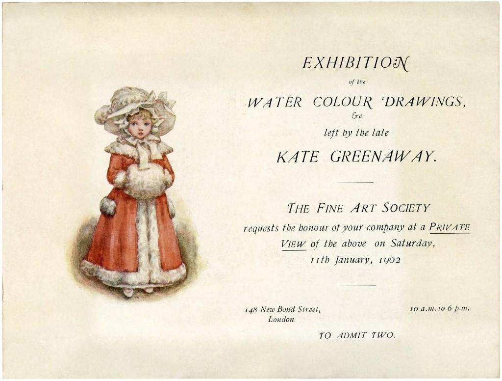 Kate Greenaway Invitation