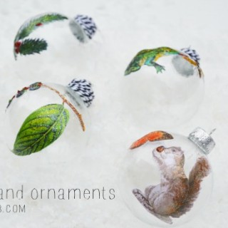 Make Woodland Creature Decoupage Ornaments