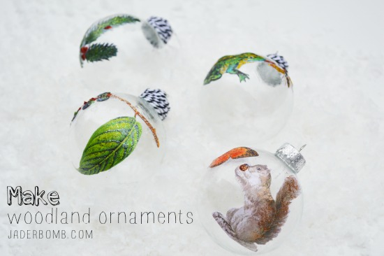 Make woodland ornaments