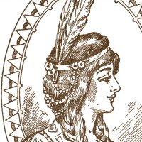 Native American Clip Art Woman