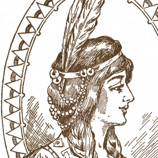 Native American Woman Clip Art