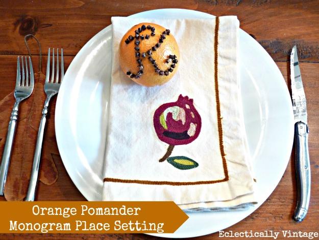 Orange Pomanders via eclecticallyvintage.com