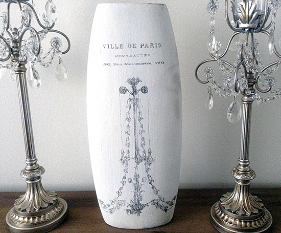 DIY Painted Vase with Chandelier