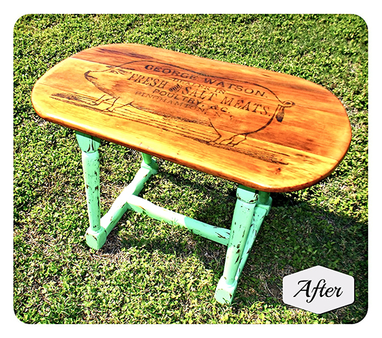 DIY Painted Side Table