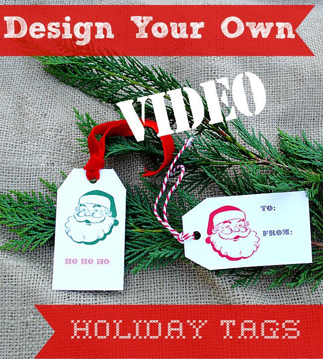 Printable Holiday Tags Video
