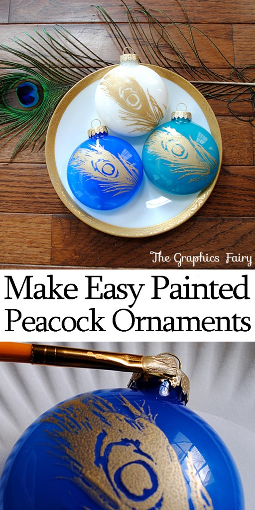 Easy Christmas Ideas Peacock Ornaments