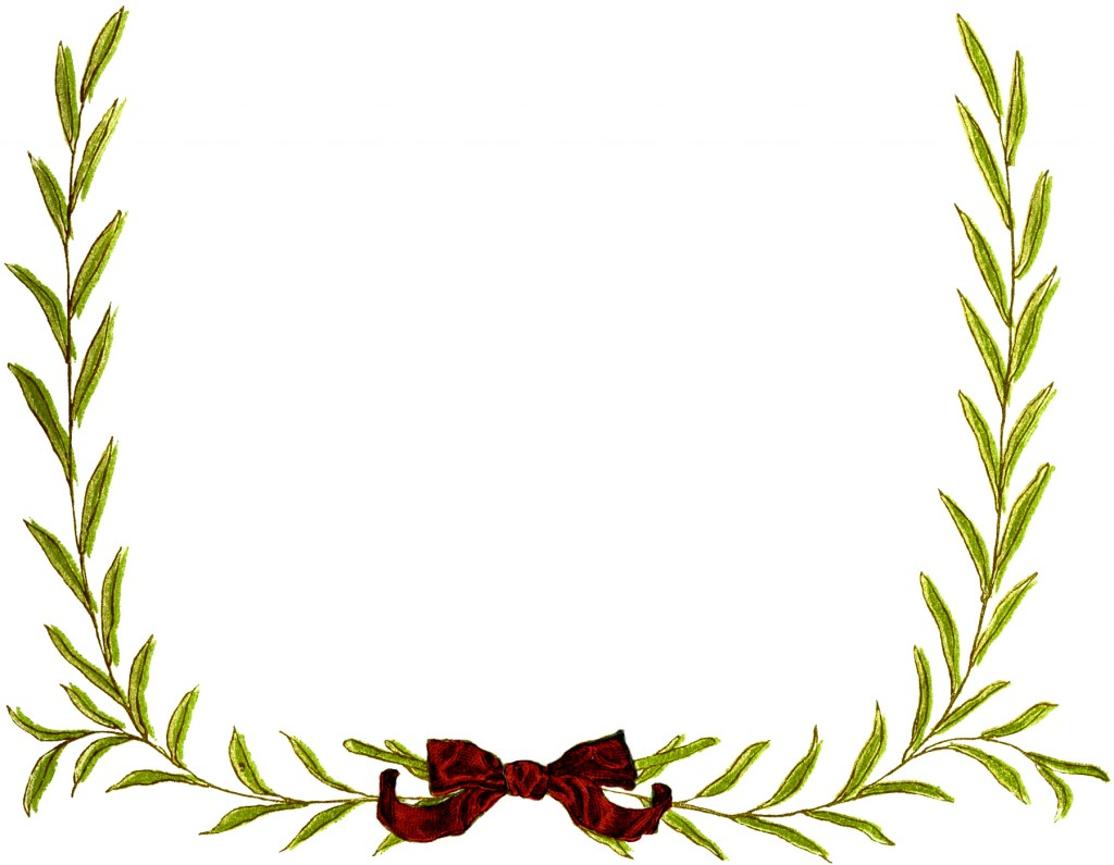 Simple Christmas Wreath Frame Image
