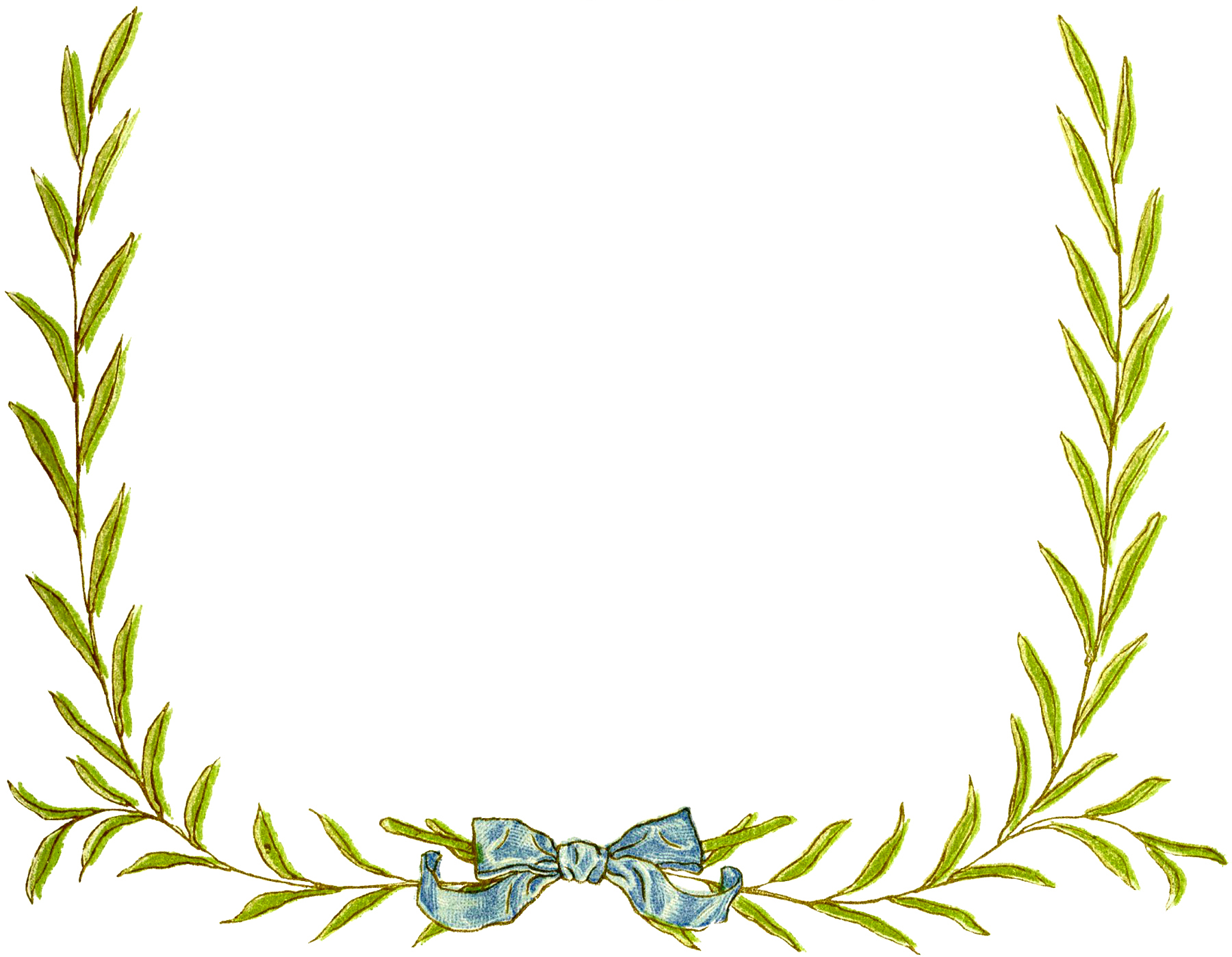 simple leaves wreath frame - Wreath Frames