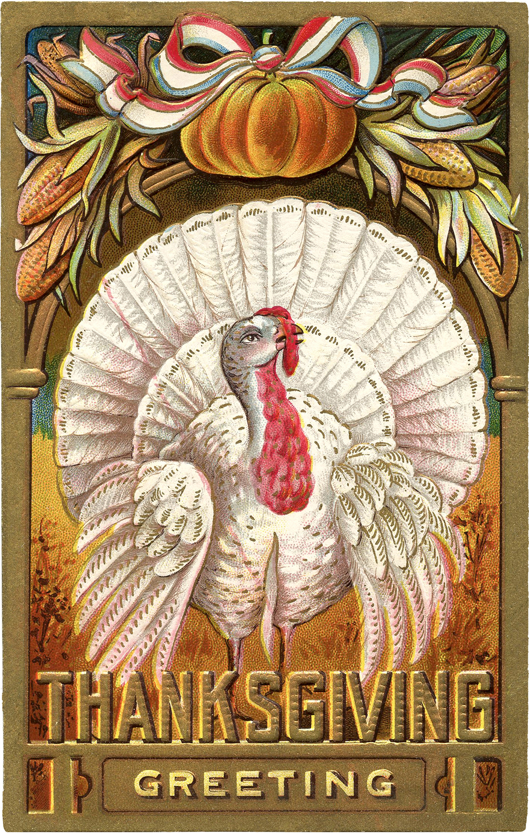 Thanksgiving Clip Art White Turkey The Graphics Fairy