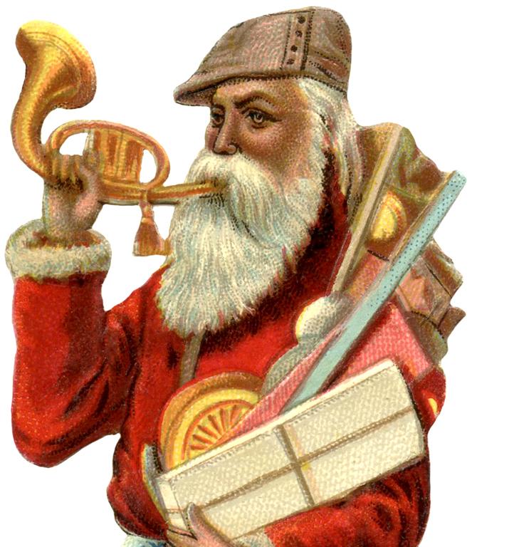 Christmas ephemera on pinterest vintage santas - Wonderful Victorian Santa Image The Graphics Fairy