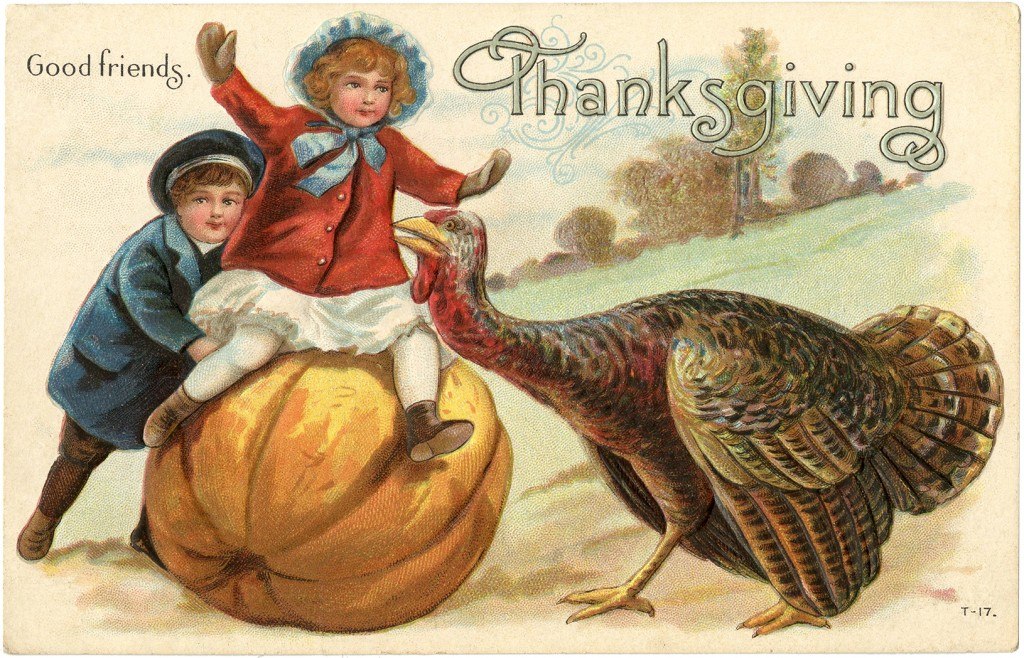 Victorian Thanksgiving Postcard The Graphics Fairy