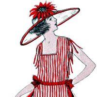 Vintage Christmas Costume Lady