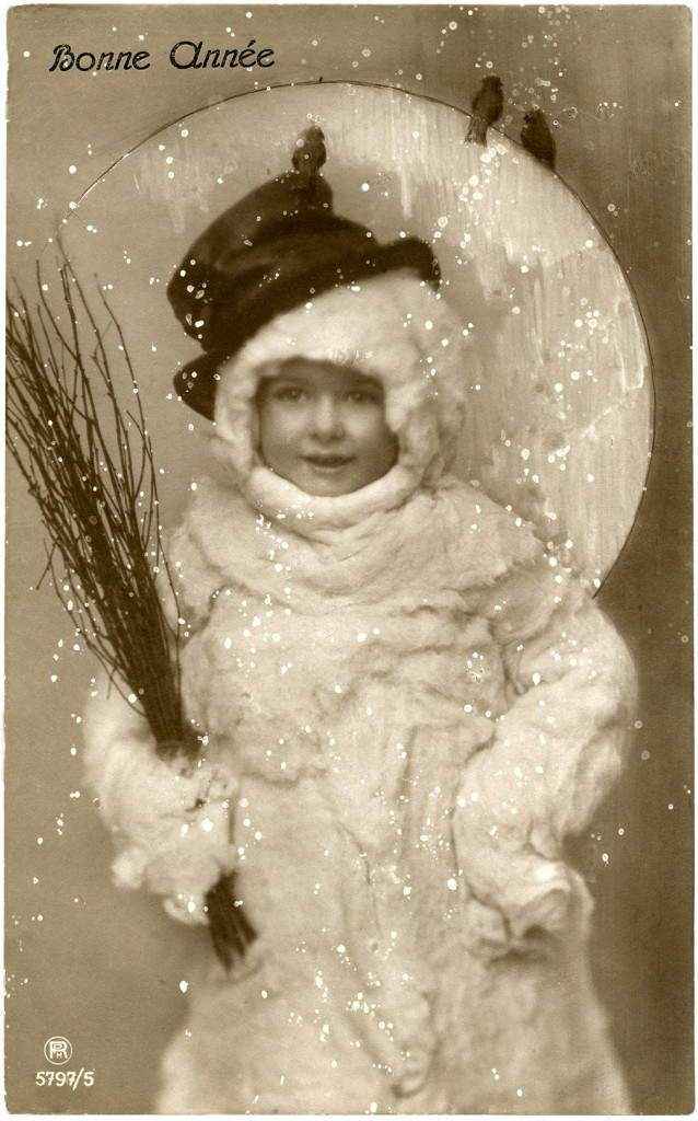 Vintage Child in Snowman Costume Photo