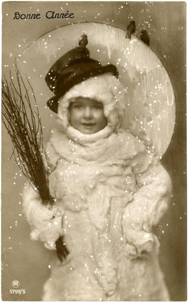 Vintage Snowman Image