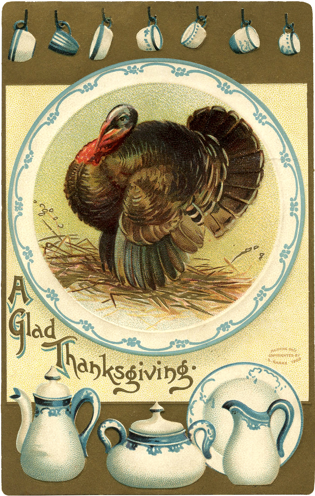 Vintage Thanksgiving Turkey Image - The Graphics Fairy