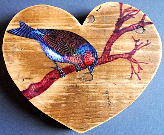 Beautiful Wooden Bird Coaster
