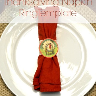 Thanksgiving Turkey Napkin Rings Template