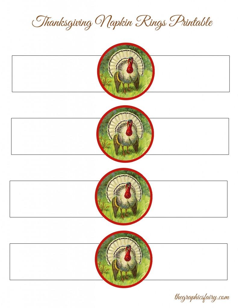 Thanksgiving Turkey Napkin Rings Template