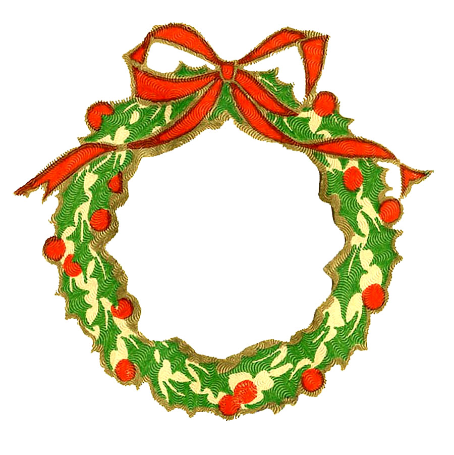 Wreath Vintage Christmas Image