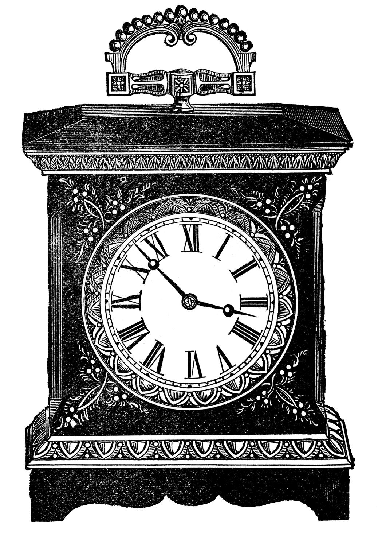 Antique Clock Image - The Graphics Fairy
