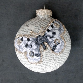 DIY Book Page Glass Ornaments