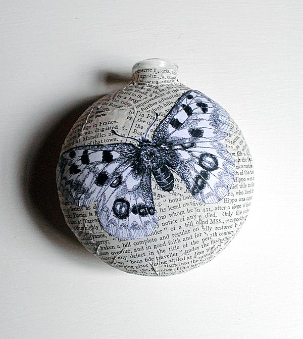 Make Book Page Ornaments
