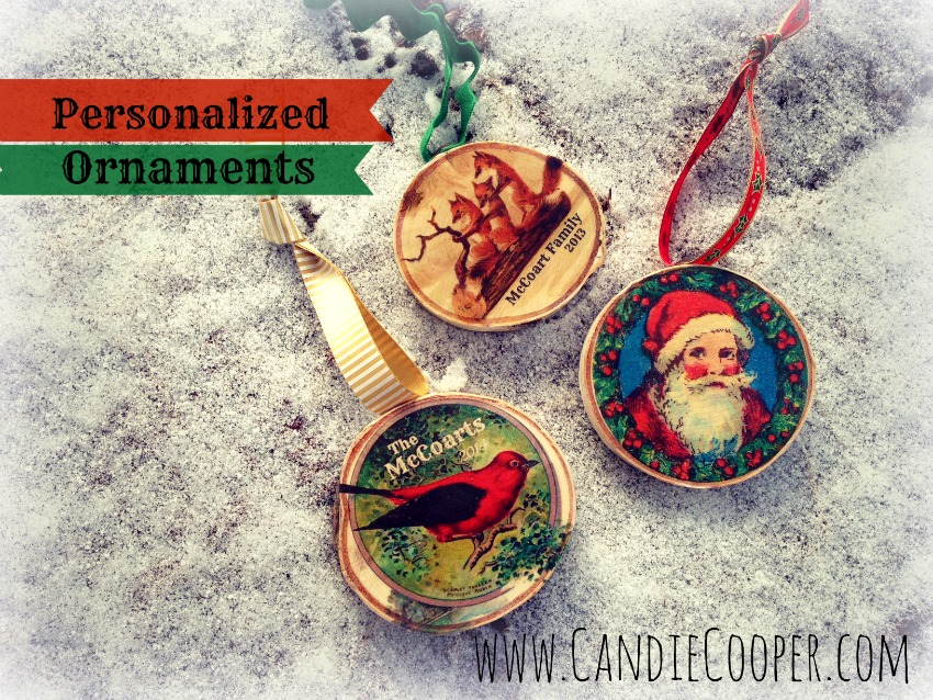 Candie Cooper Birchwood Christmas Ornament 1A