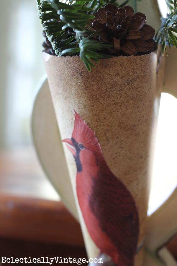 Paper cone flower holder make a cardinal paper cone mightylinksfo