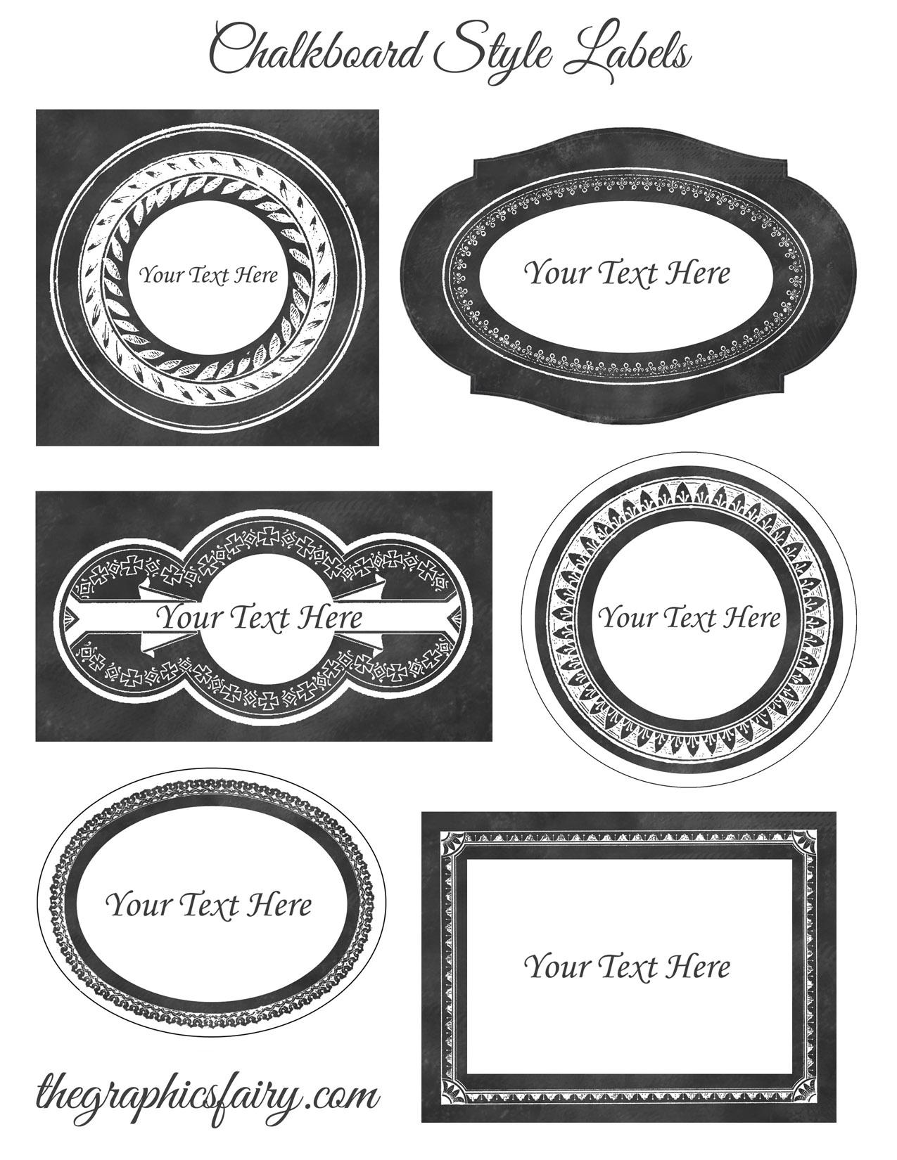 printable labels free