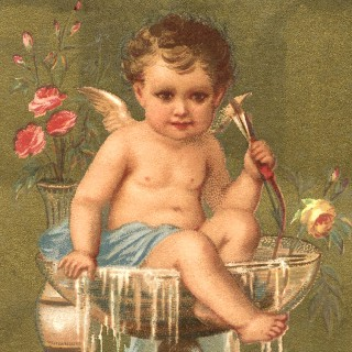 Champagne Cherub Image – New Years