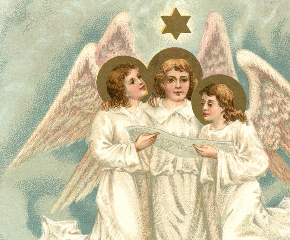 Ангелы поют открытки, поздравление