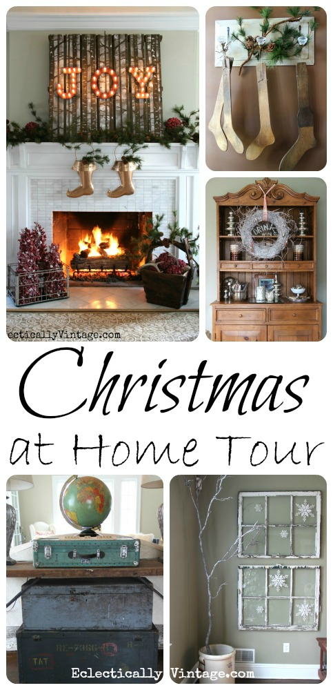 Christmas House Tour eclecticallyvintage.com