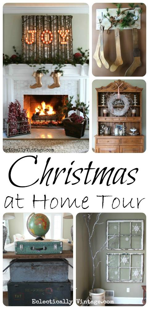 Christmas House Tour eclecticallyvintage.com