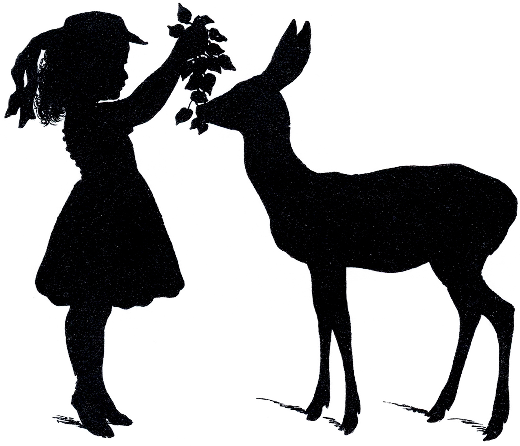 Free deer silhouette vectors adorable the graphics fairy