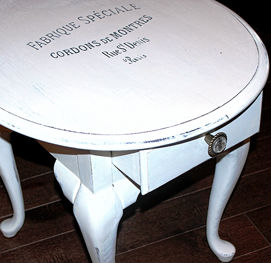 Beautiful French Painted Side Table