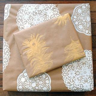 Homemade Gift Wrap DIY