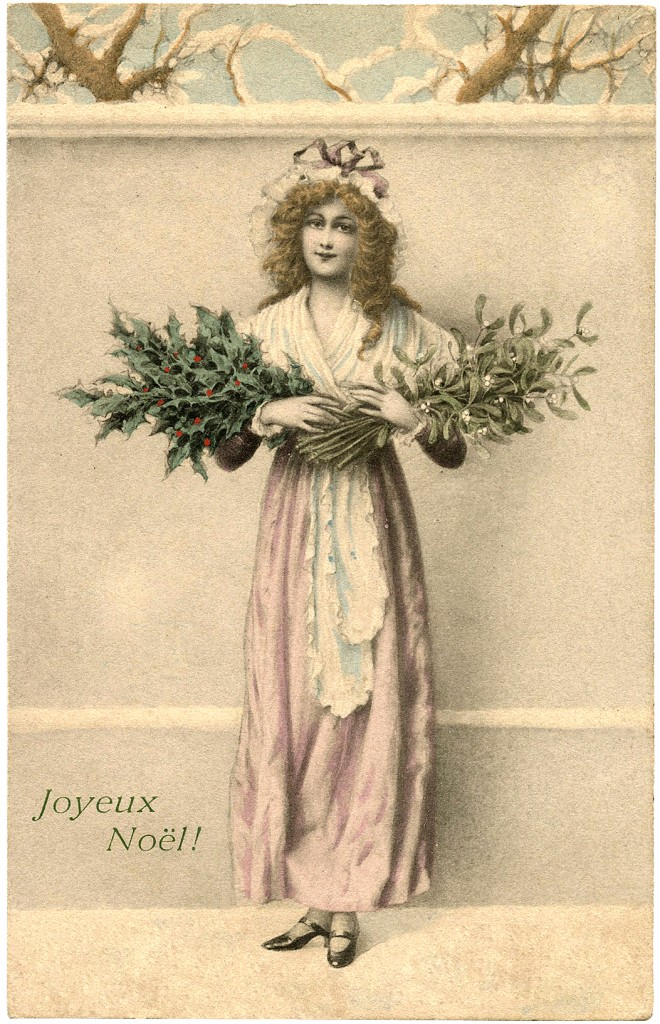 Holly and Mistletoe Image Lady