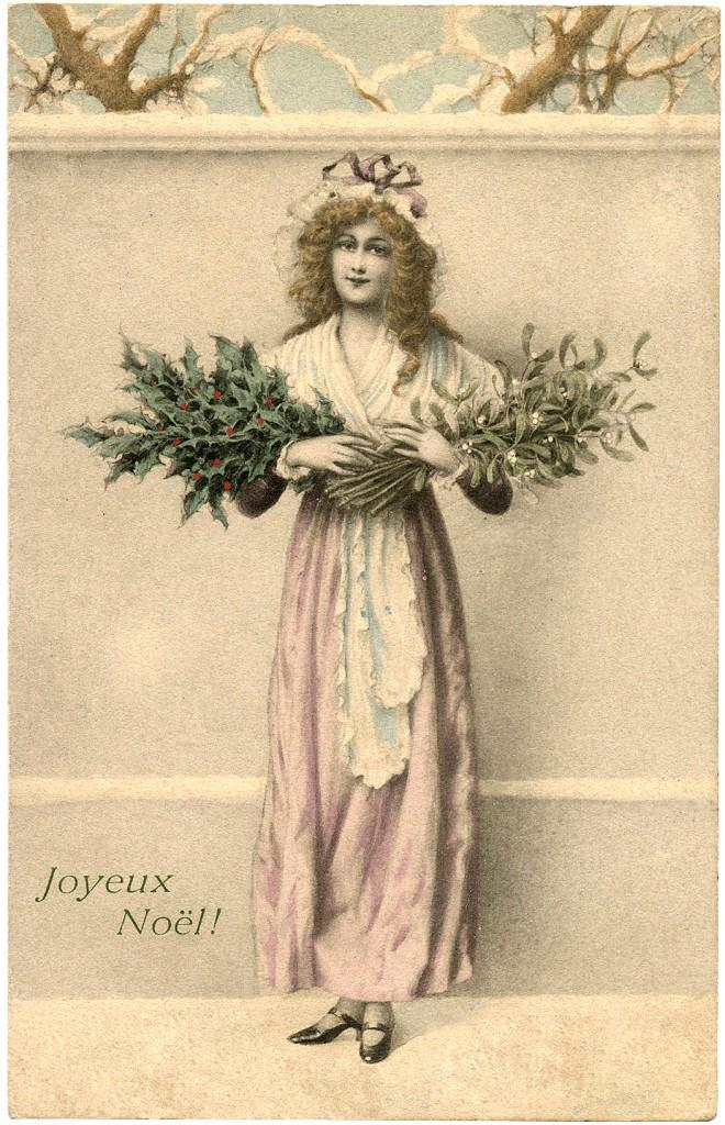 Holly and Mistletoe Image Lady