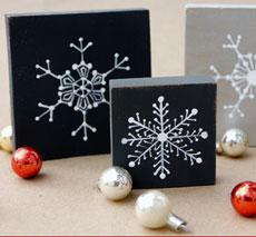 Homemade Christmas Decorations – Snowflake Blocks