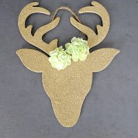 Gold Reindeer Ornaments DIY