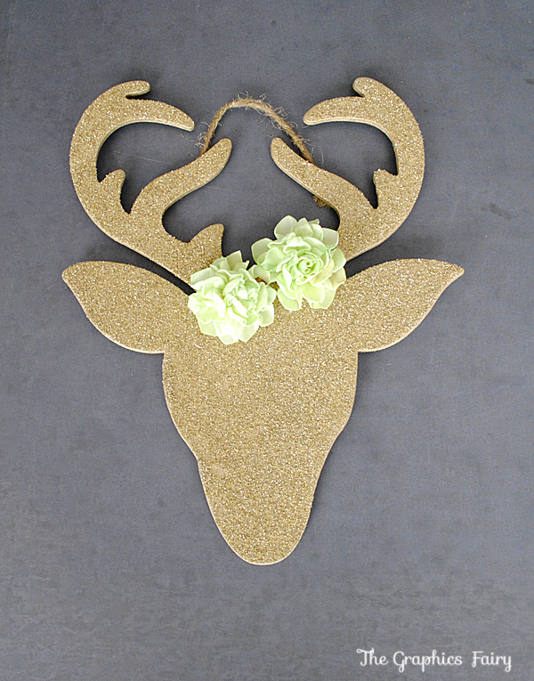 Gold Reindeer Ornaments DIY