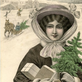 French Lady with Gifts Image