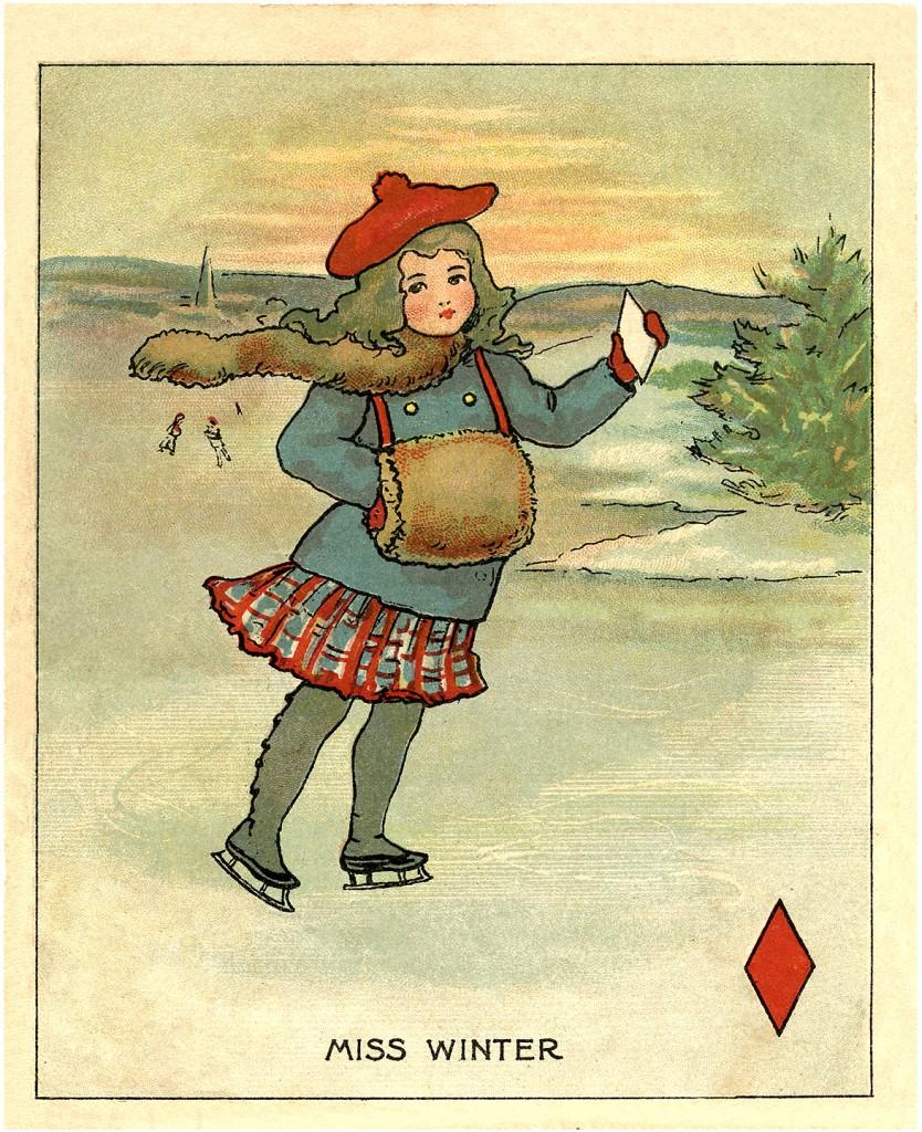 Vintage Winter Clip Art