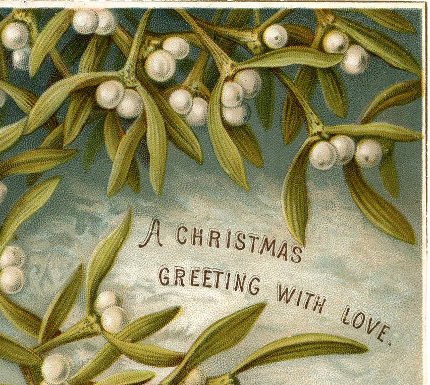 Old Fashioned Wedding Songs: Old Fashioned Mistletoe Clip Art