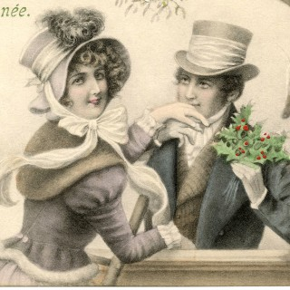 Mistletoe Couple Image