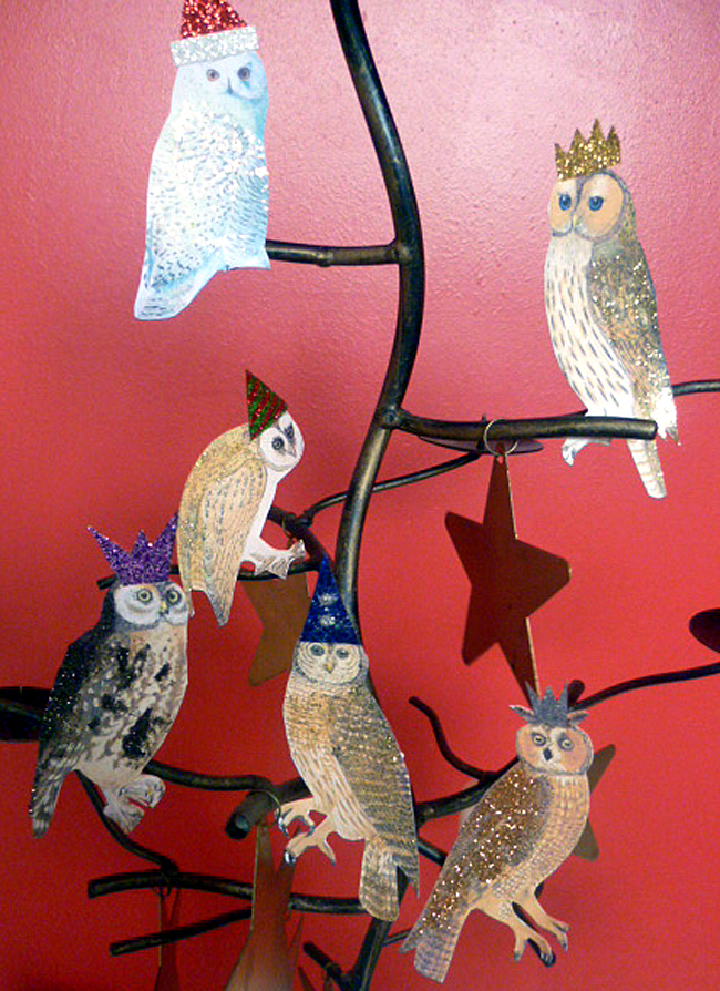 Mixed Media Owls