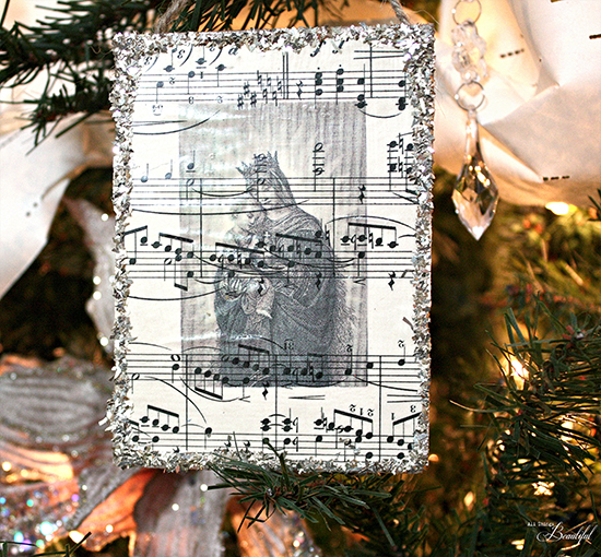 Sheet Music Ornaments - Madonna - The Graphics Fairy