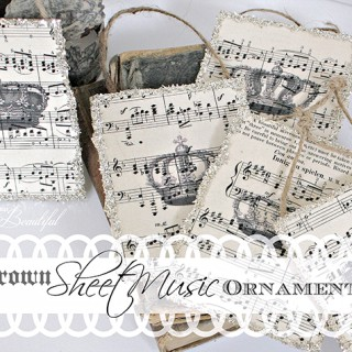 Sheet Music Ornaments – Reader Featured Project