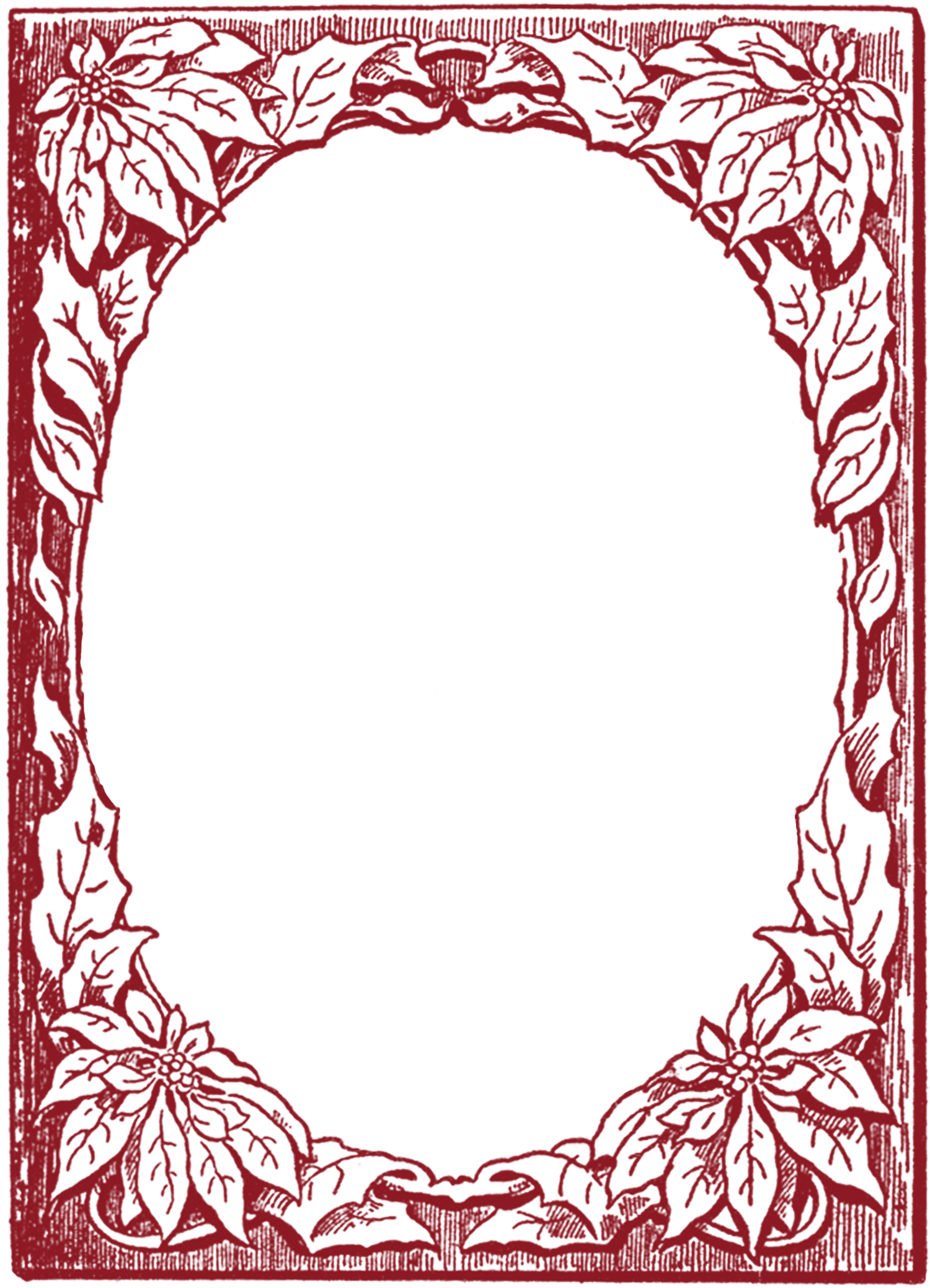 Poinsettia Frame Images - The Graphics Fairy