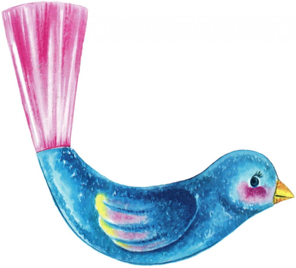 Printable Ornaments Bird